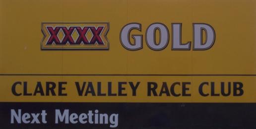 Race Track Signage.